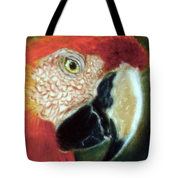Tote Bag featuring the pastel Pastel Of Red On The Head  by Antonia Citrino