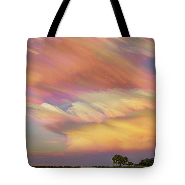 Tote Bag featuring the photograph Pastel Painted Big Country Sky by James BO Insogna