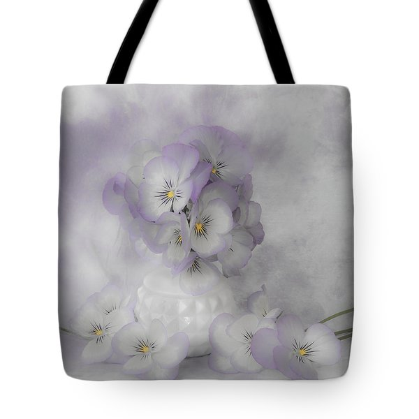 Pastel Pansies Still Life Tote Bag