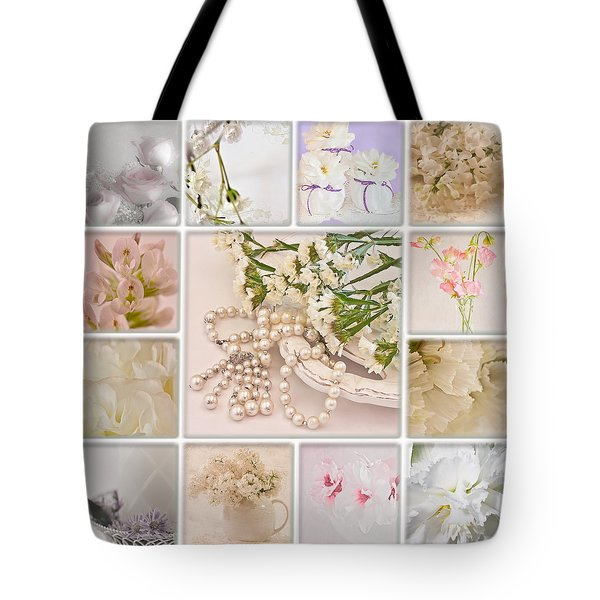 Pastel Photo Collage  Tote Bag by Sandra Foster