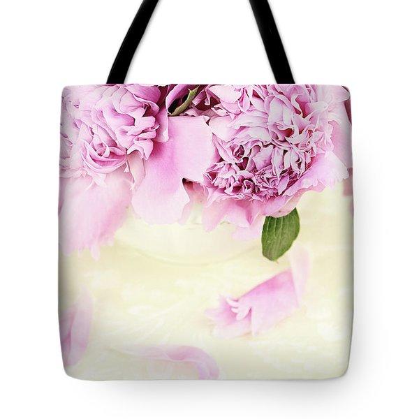 Pastel Pink Peonies  Tote Bag by Stephanie Frey