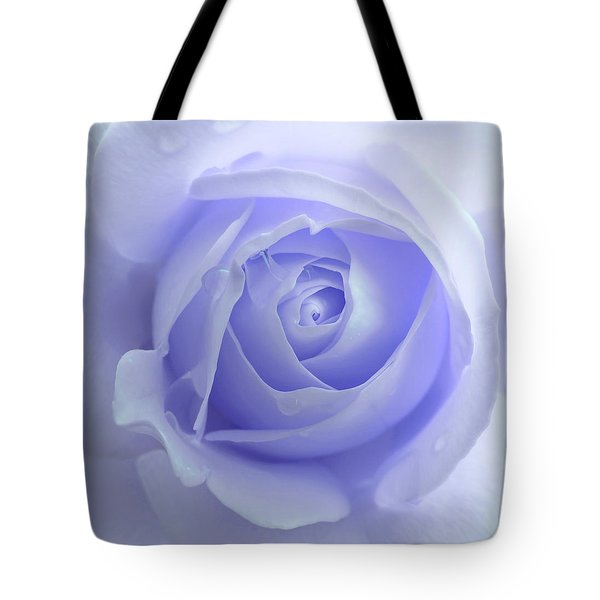 Pastel Purple Rose Flower Tote Bag