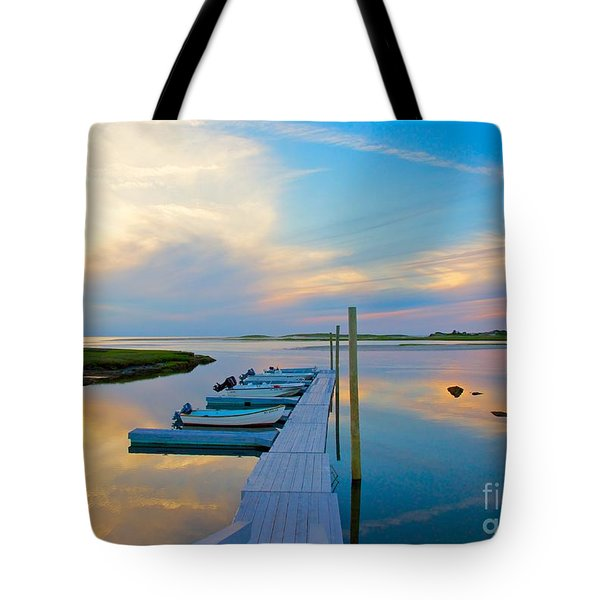 Pastel Reflections On Cape Cod Tote Bag