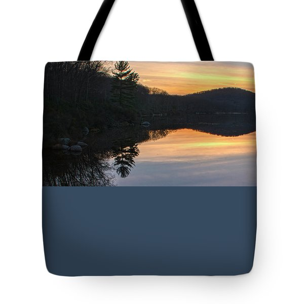 Pastel Reflections With Pine Tree Tote Bag