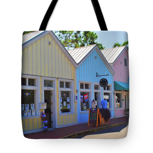 Tote Bag featuring the photograph Pastel Row by Jost Houk