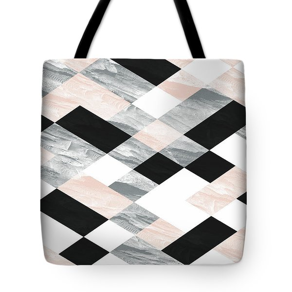 Pastel Scheme Geometry Tote Bag