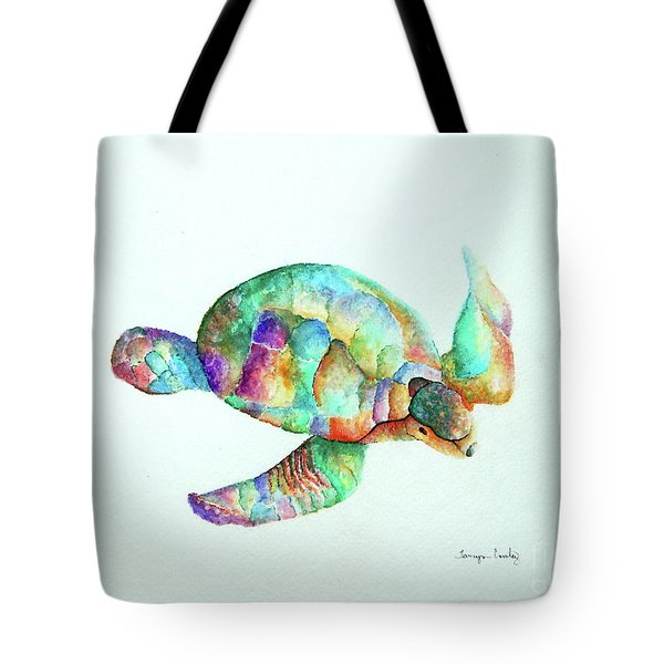 Pastel Sea Turtle Tote Bag