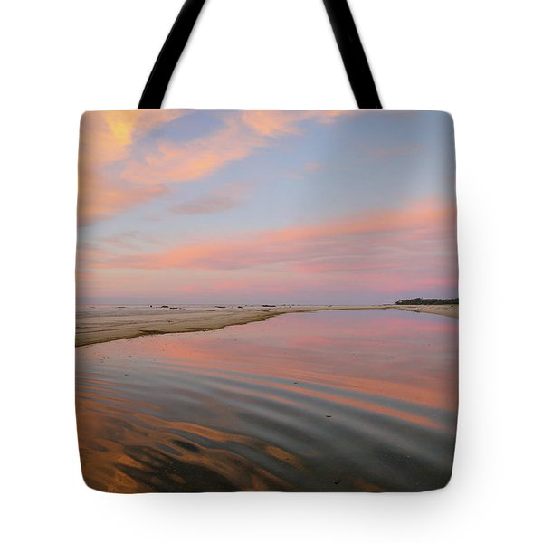 Pastel Skies And Beach Lagoon Reflections Tote Bag