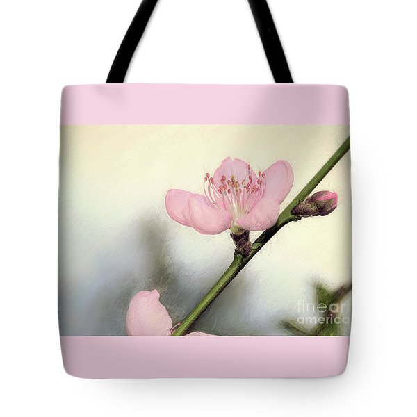 Tote Bag featuring the photograph Pastel Spring Blossom By Kaye Menner by Kaye Menner