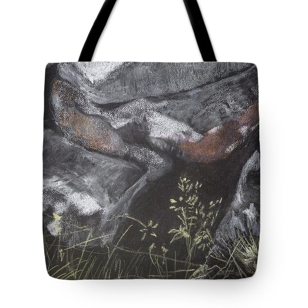 Pastel Stones And Plants On Black Tote Bag