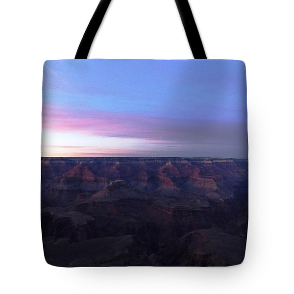 Pastel Sunset Over Grand Canyon Tote Bag