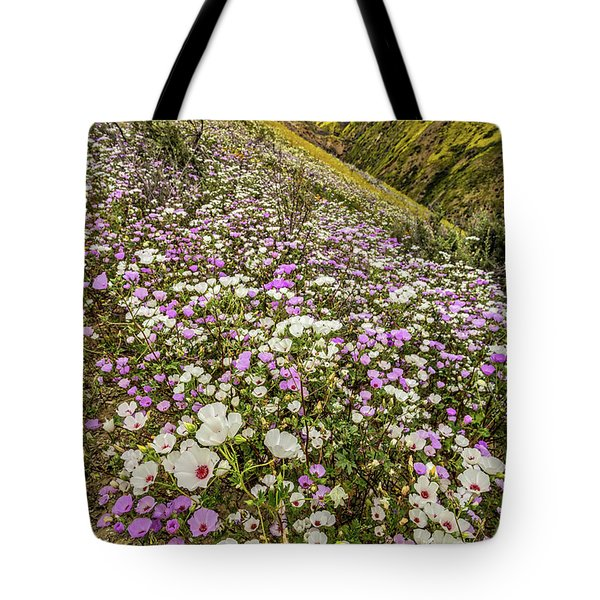 Tote Bag featuring the photograph Pastel Super Bloom by Peter Tellone