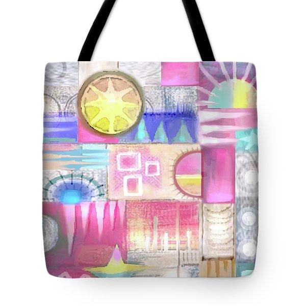 Pastel Symmetry Tote Bag
