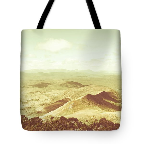 Pastel Tone Mountains Tote Bag