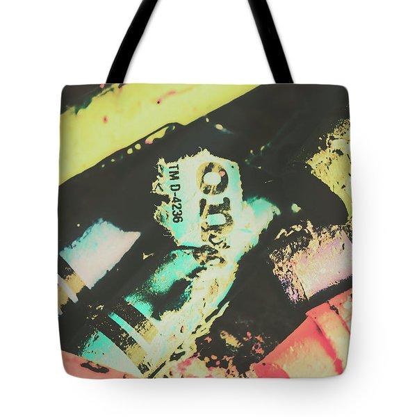 Pastel Toned Crayons Tote Bag
