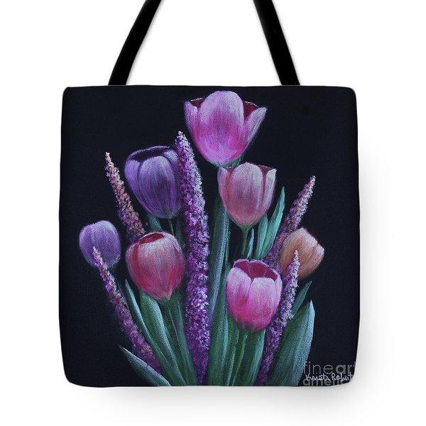 Pastel Tulips Tote Bag