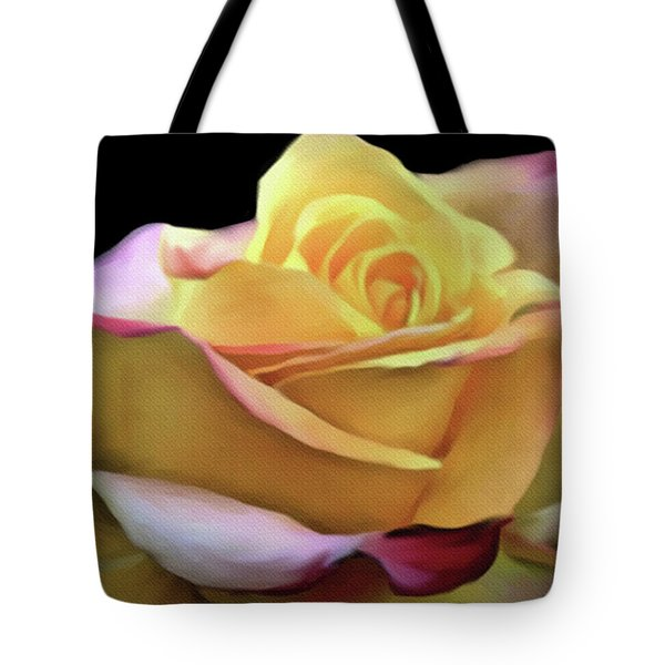 Pastel Yellow Rose Canvas Proofed Tote Bag