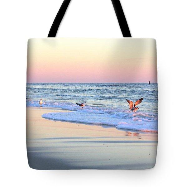 Pastels On Water Tote Bag