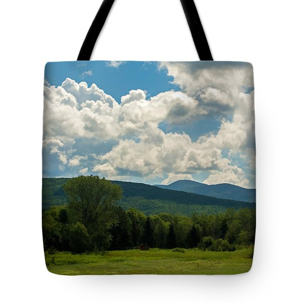 Pastoral Landscape With Mountains Tote Bag