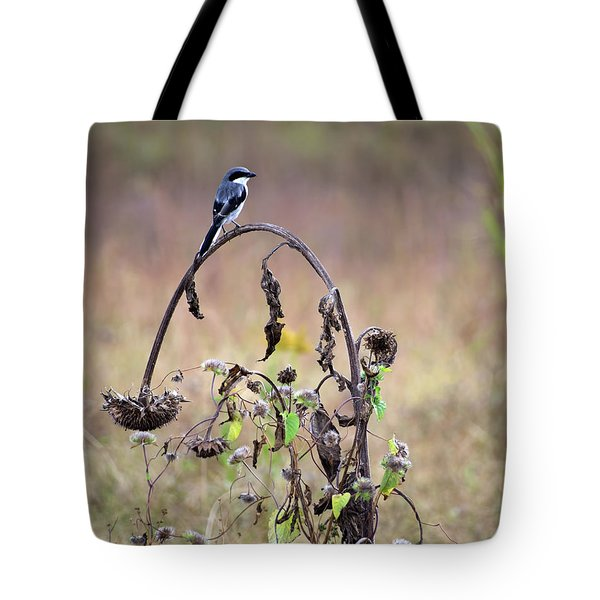 Pastoral Scene Bird On Sunflower Tote Bag