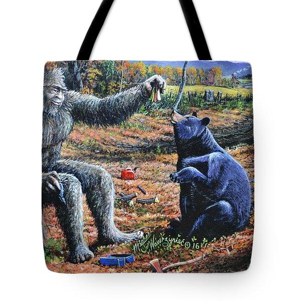 Pastromi On Rye Tote Bag by Michael Wawrzyniec