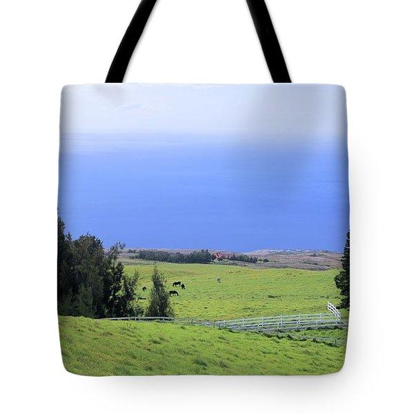 Pasture By The Ocean Tote Bag