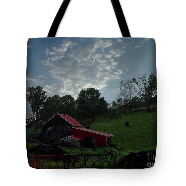 Pasture Under Elements Tote Bag