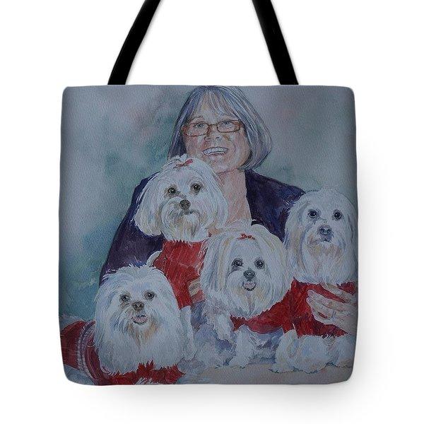 Pat And Her Babies Tote Bag