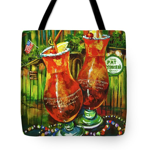 Pat O' Brien's Hurricanes Tote Bag by Dianne Parks