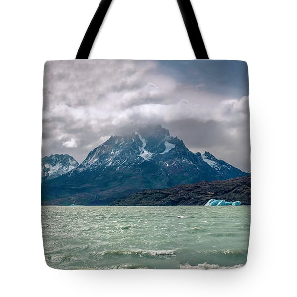 Tote Bag featuring the photograph Patagonia Lake by Andrew Matwijec