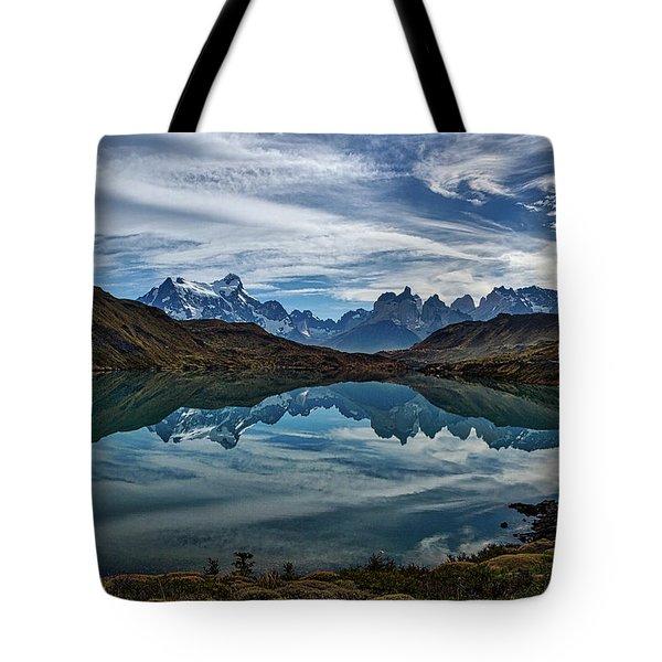 Patagonia Lake Reflection - Chile Tote Bag