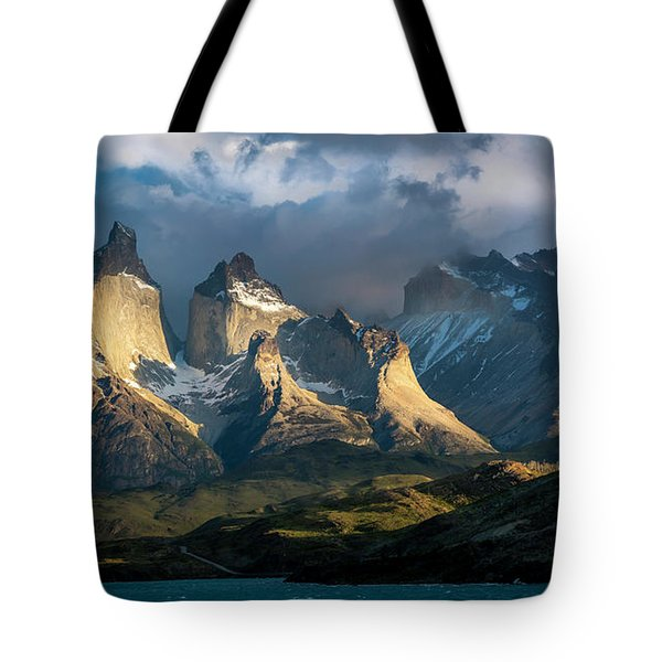 Patagonian Sunrise Tote Bag by Andrew Matwijec