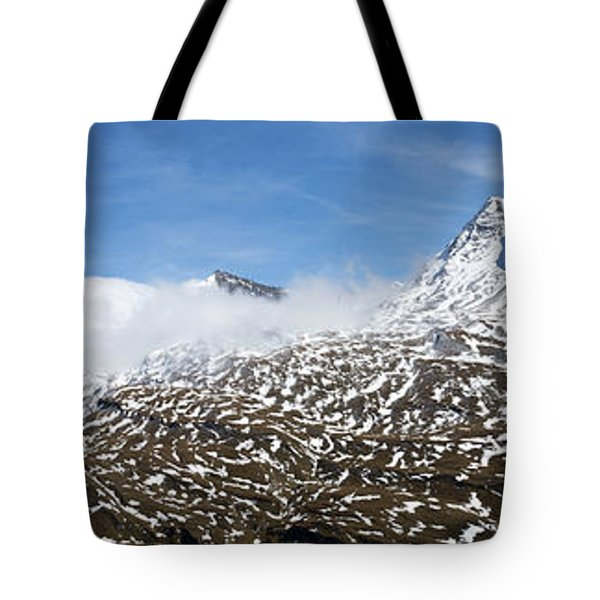 Patches Of Snow Tote Bag