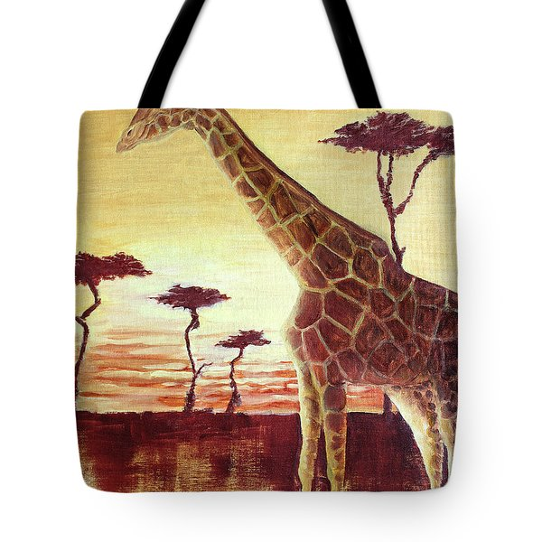 Tote Bag featuring the painting Patches by Todd Blanchard