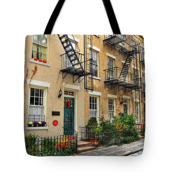 Patchin Place - Ee Cumming's Historic Home Tote Bag by Randy Aveille