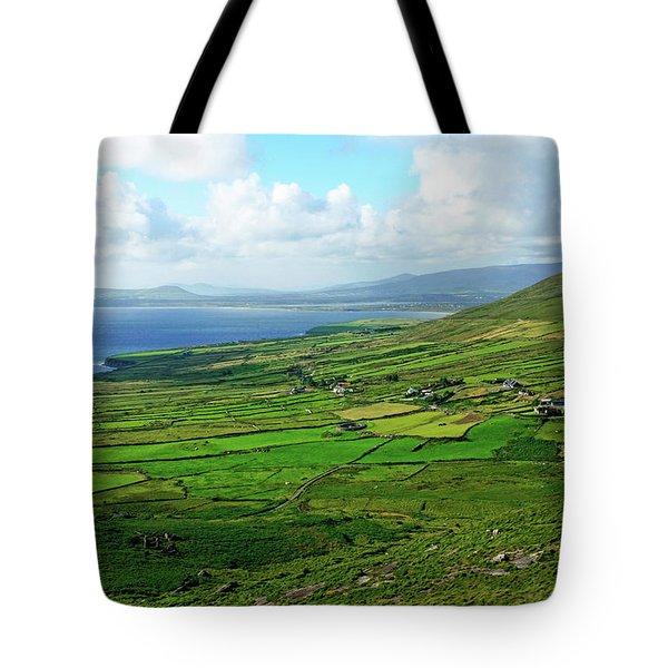 Patchwork Landscape Tote Bag