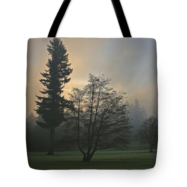 Patchy Morning Fog Tote Bag
