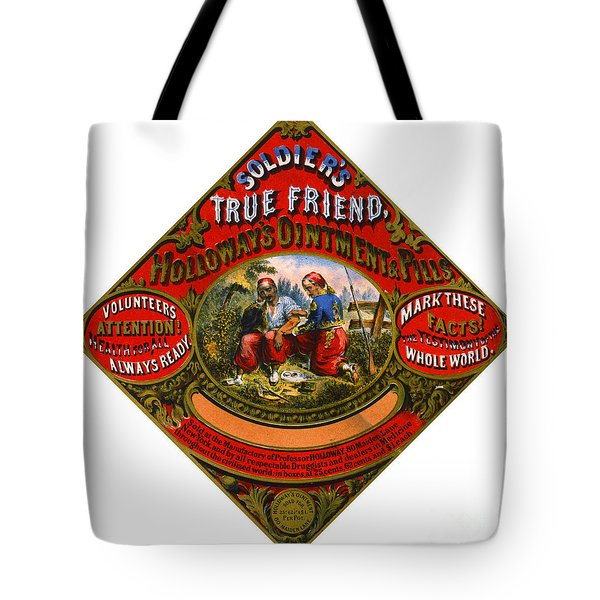 Tote Bag featuring the photograph Patent Medicine Label 1862 by Padre Art