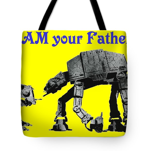Paternal Declaration Tote Bag by Paul Van Scott