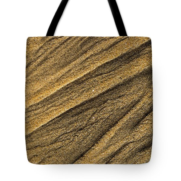 Paterns In The Sand Tote Bag
