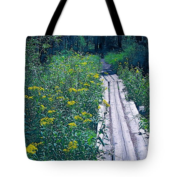 Path 4 Tote Bag by Pamela Cooper