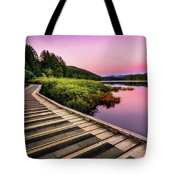 Path By The Lake Tote Bag