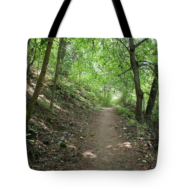 Tote Bag featuring the photograph Path By The River by Ben Upham III