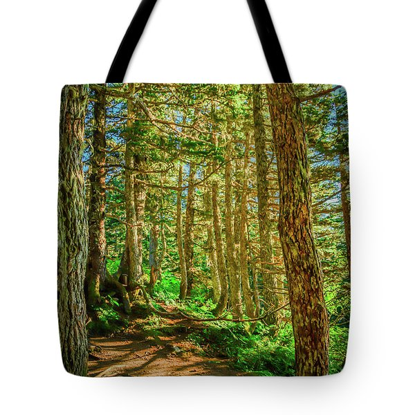 Path In The Trees Tote Bag