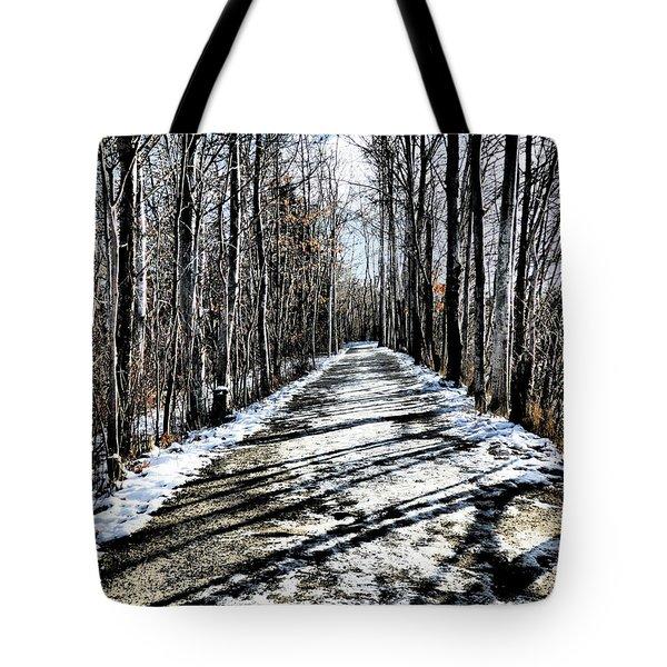 Path In Winter Tote Bag