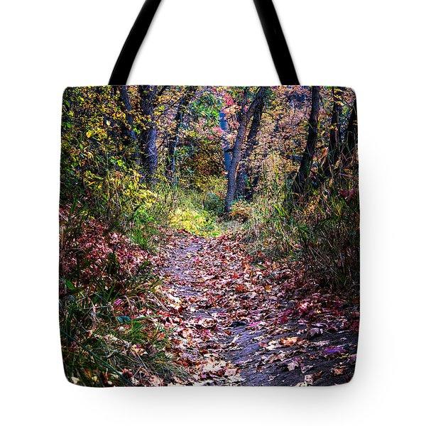 Path Of Leaves Tote Bag