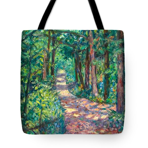 Path On Sharp Top Tote Bag