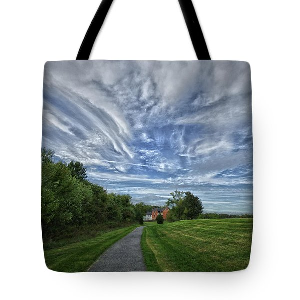 Path Tote Bag by Robert Geary