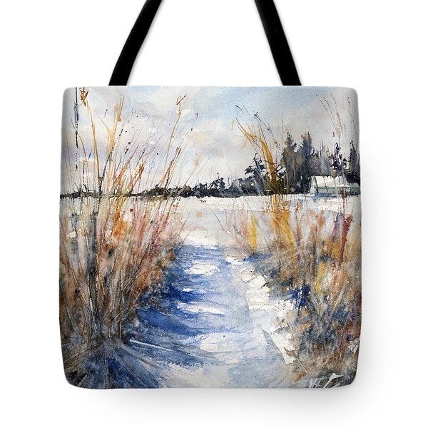 Path Shadows In The Way Back Tote Bag