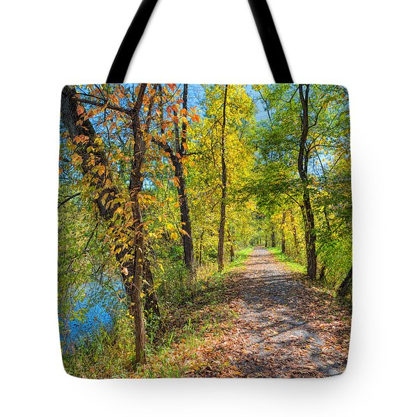 Path Through Fall Tote Bag